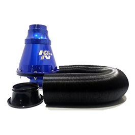 K&N Appolo Cold Air Intake Filter Branded - Blue | Universal Car Air Filter Vehicle Induction High Power Mesh | Auto Cold Air Hood Intake-SehgalMotors.Pk