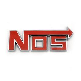 Nos Metal Monogram   Emblem   Decal   Logo - Red-SehgalMotors.Pk