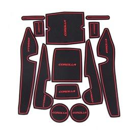Toyota Corolla PVC Non Slip Interior Mats Red - Model 2014-2017-SehgalMotors.Pk