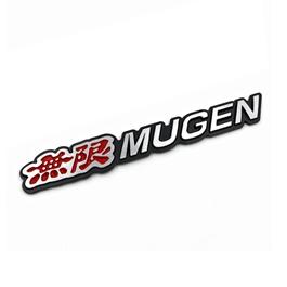 Mugen Monogram Red And Chrome   Emblem   Decal   Monogram   Logo-SehgalMotors.Pk