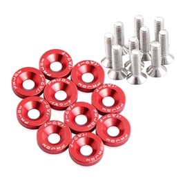 JDM Fender Washers Colorful Car Styling Universal Modification Password License Plate Bolts - Red | Washers And Bolt | Car Modified Hex Fasteners Fender Washer-SehgalMotors.Pk