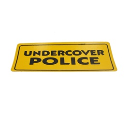 Under Cover Police Warning Sticker Yellow-SehgalMotors.Pk