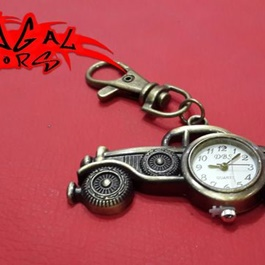 Car Clock Metal Key Chain / Key Ring | Key Chain Ring For Keys | New Fashion Creative Novelty Gift Keychains-SehgalMotors.Pk