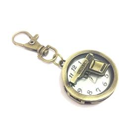 Gun Clock Metal Key Chain / Key Ring | Key Chain Ring For Keys | New Fashion Creative Novelty Gift Keychains-SehgalMotors.Pk