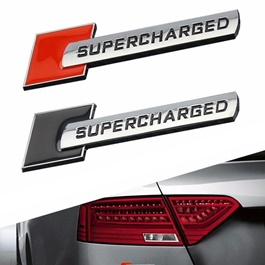 Super Charged Metal Logo Each - Mix Color  | Emblem | Decal | Monogram | Logo-SehgalMotors.Pk