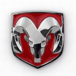 Dodge Metal Monogram   Emblem   Decal   Logo-SehgalMotors.Pk
