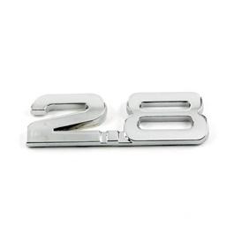 2.8 Chrome Metal Emblem   Decal   Monogram   Logo-SehgalMotors.Pk