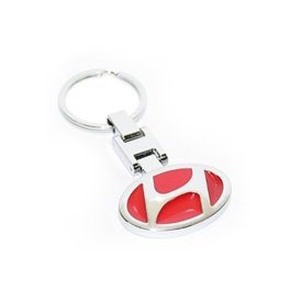 Hyundai Metal Key Chain / Key Ring - Red | Key Chain Ring For Keys | New Fashion Creative Novelty Gift Keychains