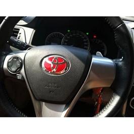 Toyota Steering Logo Red   Emblem   Decal   Monogram   Logo-SehgalMotors.Pk