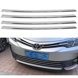 Toyota Corolla Face Lift Lower Grille Chrome Trims - Model 2017-2020 MA001101-SehgalMotors.Pk