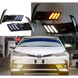 Toyota Corolla Mustang Style Face Lift DRL Cover Chrome - Model 2017-2020-SehgalMotors.Pk
