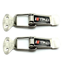 TRD Fender Clips Black Chrome | Car Big Black Boot Bonnet | Side Bumper Toggle Fasteners Catch Clip | To Hold Bumper And Fender-SehgalMotors.Pk
