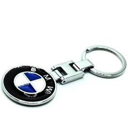 BMW Metal Key Chain / Key Ring Black Chrome | Key Chain Ring For Keys | New Fashion Creative Novelty Gift Keychains-SehgalMotors.Pk