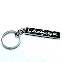 Lancer Metal Key Chain / Key Ring Black Chrome | Key Chain Ring For Keys | New Fashion Creative Novelty Gift Keychains-SehgalMotors.Pk