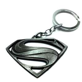 Super Man Metal Key Chain / Key Ring Silver | Key Chain Ring For Keys | New Fashion Creative Novelty Gift Keychains-SehgalMotors.Pk