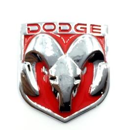 Dodge Metal Monogram Red Chrome   Emblem   Decal   Monogram   Logo-SehgalMotors.Pk
