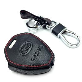 Toyota Corolla Leather Key Cover 3 Button - Model 2000-2005-SehgalMotors.Pk