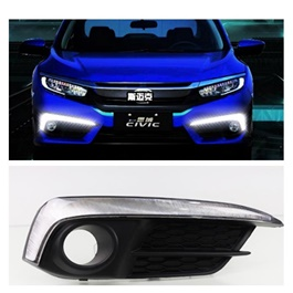 Honda Civic Audi Style Fog Lamps / Fog Lights DRL Cover - Model 2016-2020-SehgalMotors.Pk