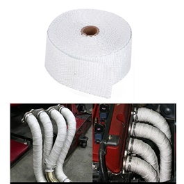 Heat Wrap Thermal For Engine and Exhaust Pipes | Car Exhaust Insulation Tapes Manifolds Heat Thermal Wrap | Motorcycle Exhaust Thermal Exhaust Tape Header Heat Wrap Resistant Down Pipe For Motorcycle Car Accessories-SehgalMotors.Pk