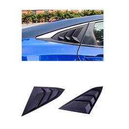Honda Civic Quarter Glass Rack Lamborghini Style Louver Vents Pair- Model 2016-2020-SehgalMotors.Pk