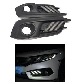 Honda Civic Cut Style Fog Lamps / Fog Lights DRL Cover - Model 2016-2020-SehgalMotors.Pk