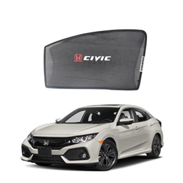 Honda Civic Side Sunshade / Sun Shades with Logo - Model 2017-2020-SehgalMotors.Pk