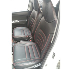 Toyota Corolla Seat Covers Black With Red Stitching in Lines - Model 2017-2020-SehgalMotors.Pk
