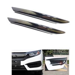 Honda Civic Front Fog Lamps / Fog Lights Chrome Trim - Model 2016-2020-SehgalMotors.Pk