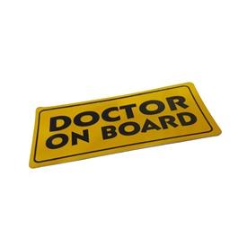 Doctor On Board Warning Sticker Yellow -SehgalMotors.Pk