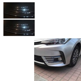 Toyota Corolla Front Chrome 8 pcs - Model 2017-2020-SehgalMotors.Pk