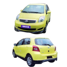 Toyota Vitz Small Body Kit / Bodykit 4 Pcs Plastic PP - Model 2011-SehgalMotors.Pk