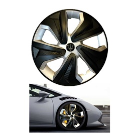 Wheel Cups / Wheel Covers ABS Matt Black And Silver 15 Inches WX2-1SL-15-SehgalMotors.Pk