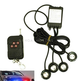 Police Red Light Spot Flasher with Wireless Remote Blue Red-SehgalMotors.Pk
