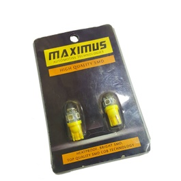 Maximus SMD 5 Parking Light Yellow - Pair   Led Light Bulb For Parking   SMD Car Exterior Parking Lamps Parking Lights Car Accessories-SehgalMotors.Pk