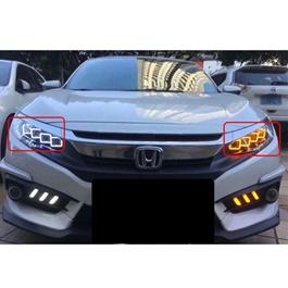 Honda Civic Full LED Headlight / Head Lamp Bugatti Style Front Lamp - Model 2016-2020-SehgalMotors.Pk