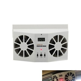 Double Solar Powered Heat Ventilation Exhaust Fan Large-SehgalMotors.Pk