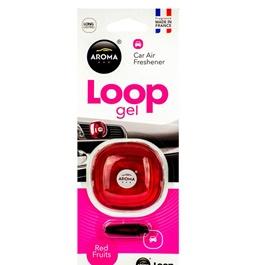 Aroma Car Air Freshener Car Perfume Fragrance Loop Gel Red Fruits-SehgalMotors.Pk
