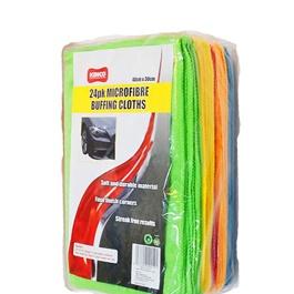 Kenco Microfiber Buffing Cloths 24 Pcs | Auto Car Natural Drying Clean Cloth | Cleaning Cloth | Car Cleaning Towels Drying Washing Cloth | Car Care Cloth Detailing Car Microfibre Cloth-SehgalMotors.Pk
