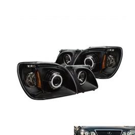 Lexus LX470 Eagle Eye Style Headlight / Head Lamp Projection Black Taiwan-SehgalMotors.Pk
