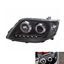 Toyota Corolla X Projection Black Headlight / Head Lamp - Model 2006-2012-SehgalMotors.Pk
