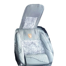 Fur Style Seat Covers Sky Blue-SehgalMotors.Pk