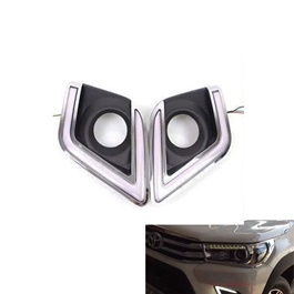 Toyota Hilux Revo Fog Lamp DRL Covers - Model 2016-2020-SehgalMotors.Pk