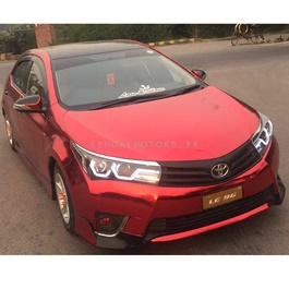 Electric Red Wrap Per Sq Ft | Car Vinyl Wrap Film | Car Wrapping | Vehicle Wrap-SehgalMotors.Pk