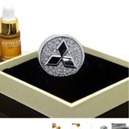 Mitsubishi Logo Car Perfume Fragrance Silver | Car Perfume | Fragrance | Air Freshener | Best Car Perfume | Natural Scent | Soft Smell Perfume-SehgalMotors.Pk