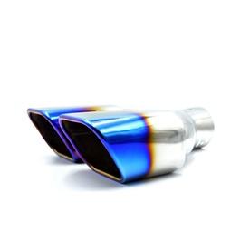 Remus Style Hks Double Muffler Burnt Tip Exhaust Silencer Muffler Tip-SehgalMotors.Pk