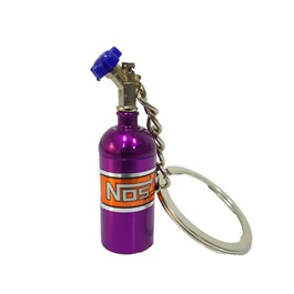 NOS Can Cylinder Shape Key Chain / Key Ring - Purple | Key Chain Ring For Keys | New Fashion Creative Novelty Gift Keychains-SehgalMotors.Pk