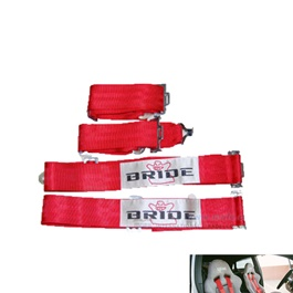 Bride Racing Seat Belt For Safety - Red | Car Racing Safety Harness Camlock | Racing Seat Belt | Universal Vehicle Racing Safety Seatbelt-SehgalMotors.Pk