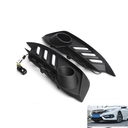 Honda Civic Fog Lamps / Fog Lights DRL Cover Mustang Style - Model 2016-2020-SehgalMotors.Pk
