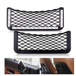 Car Net String Box Side Pocket Organizer Bags Baskets Mobile Phone Holder Small