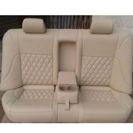 Japanese Rexine Extra Foaming Seat Covers Beige Style B-SehgalMotors.Pk